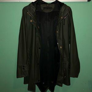 Zara green oversized raincoat